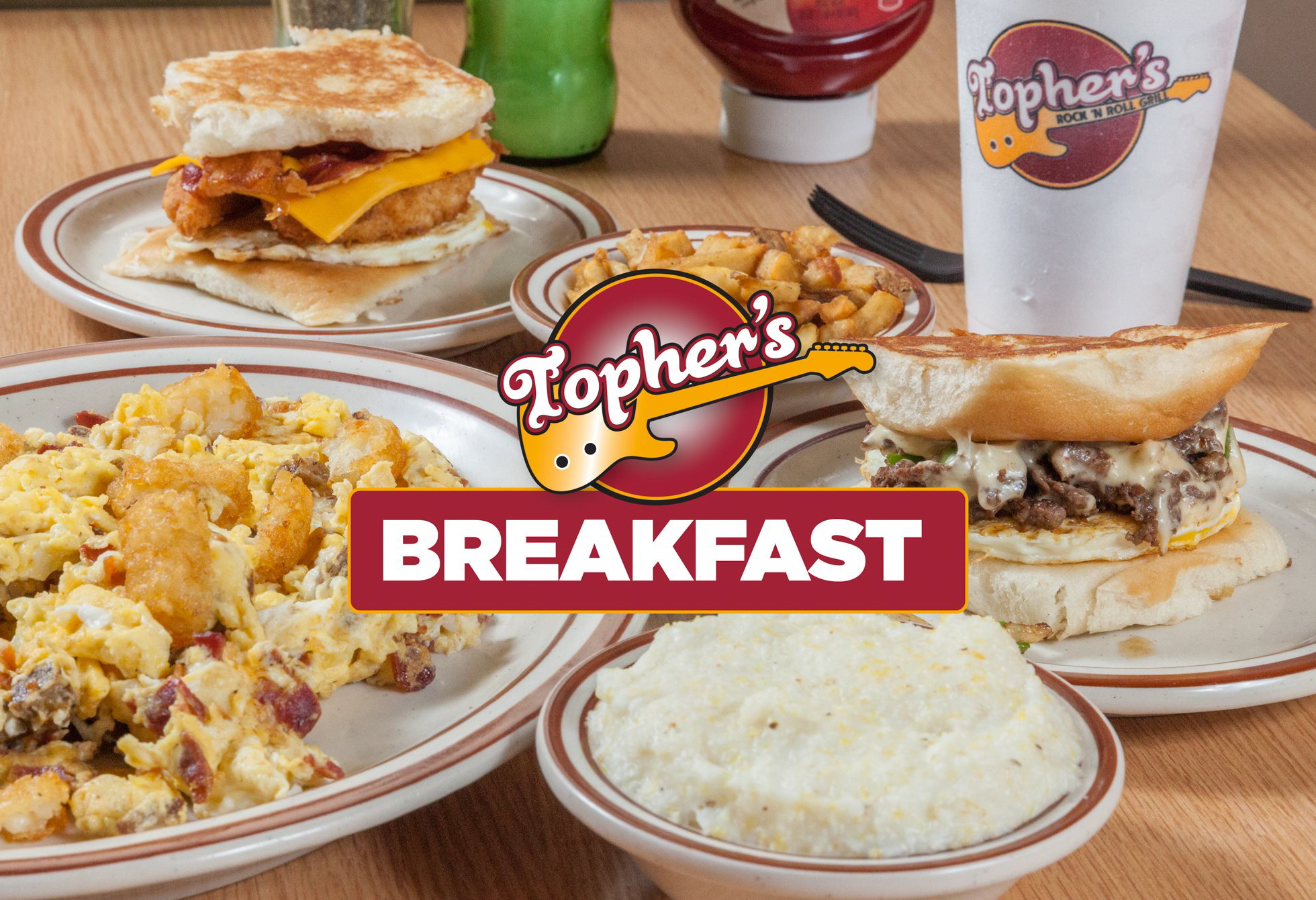 WIN BREAKFAST FROM TOPHER'S